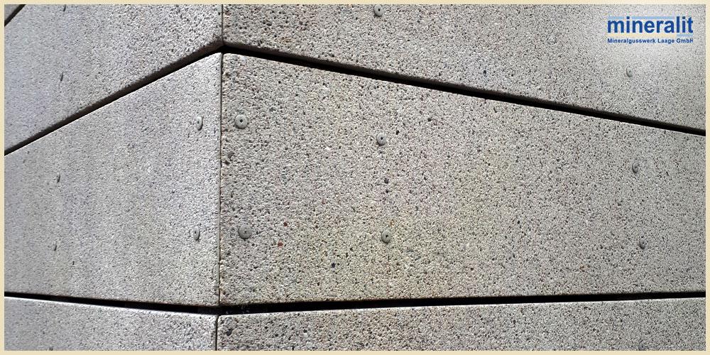 vorgehängte hinterlüftete Fassadenplatten aus Mineralit